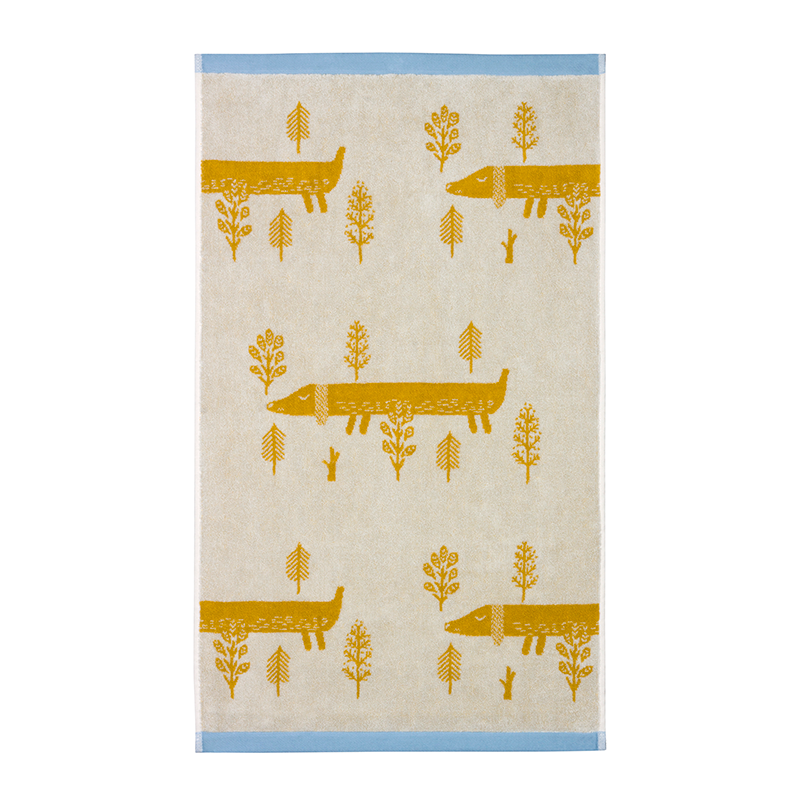 Donna Wilson Sausage Dog Towels Mustard