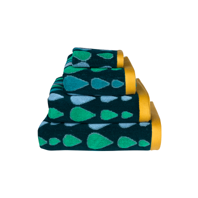 Donna Wilson Rain Drops Towel Set Green