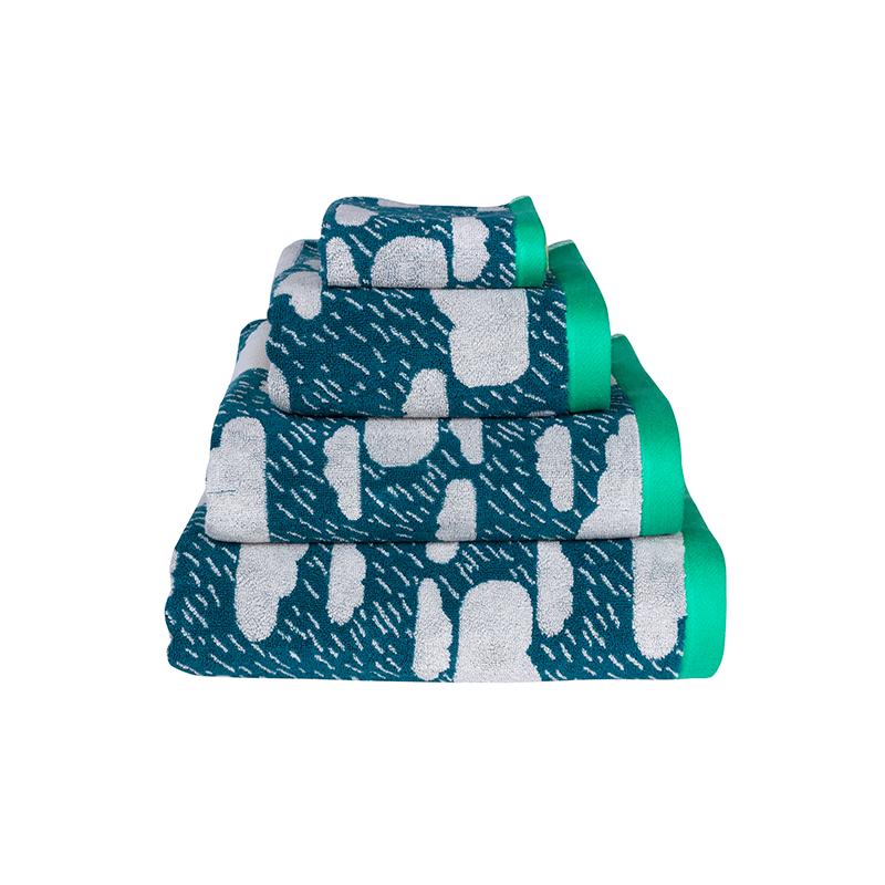 Donna Wilson Rainy Day Towel Set Green
