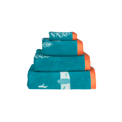 Donna Wilson Sausage Dog Towel Set Blue