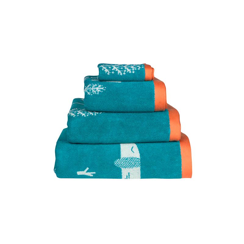 Donna Wilson Sausage Dog Towel Set Blue