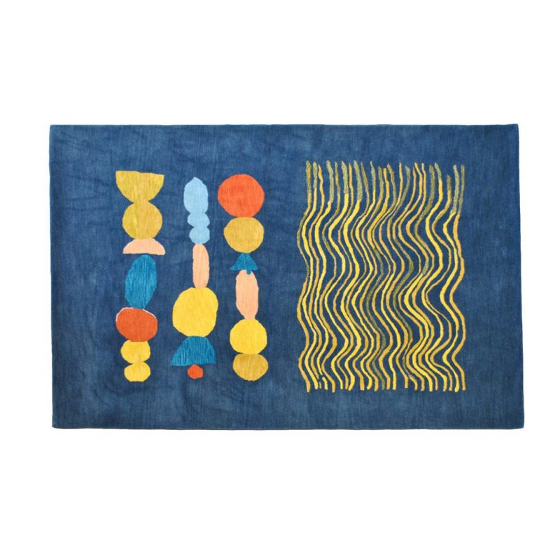 Waves + Ovals Rug by Donna Wilson for SCP