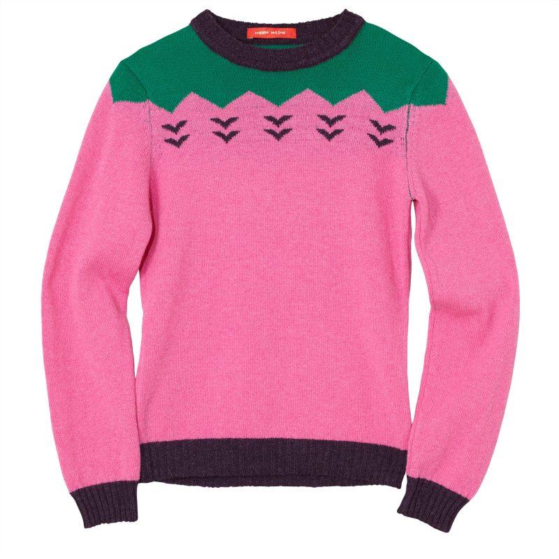 Zig-Zag-Jumper---Pink-Green