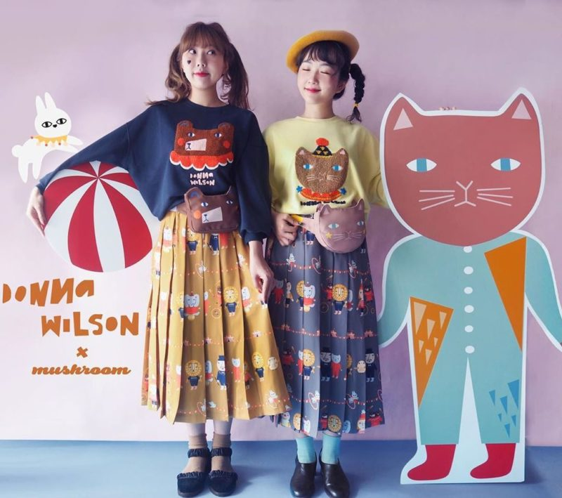 Mushroom Circus Bear and Cat Sweatshirts - Donna Wilson