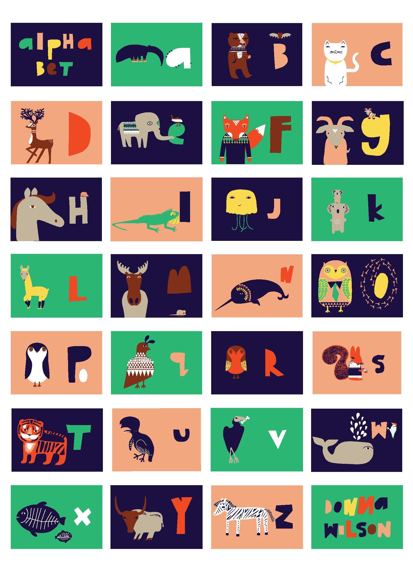 alphabet poster   donna wilson