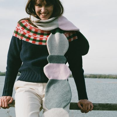 Pebble Skinny Scarf + Isla Sweater - Donna Wilson