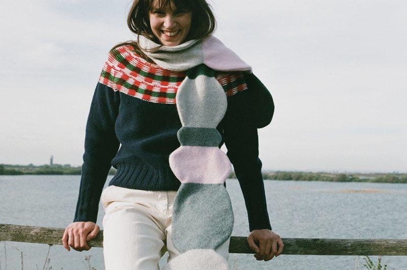 Pebble Skinny Scarf + Isla Sweater - Donna Wilson