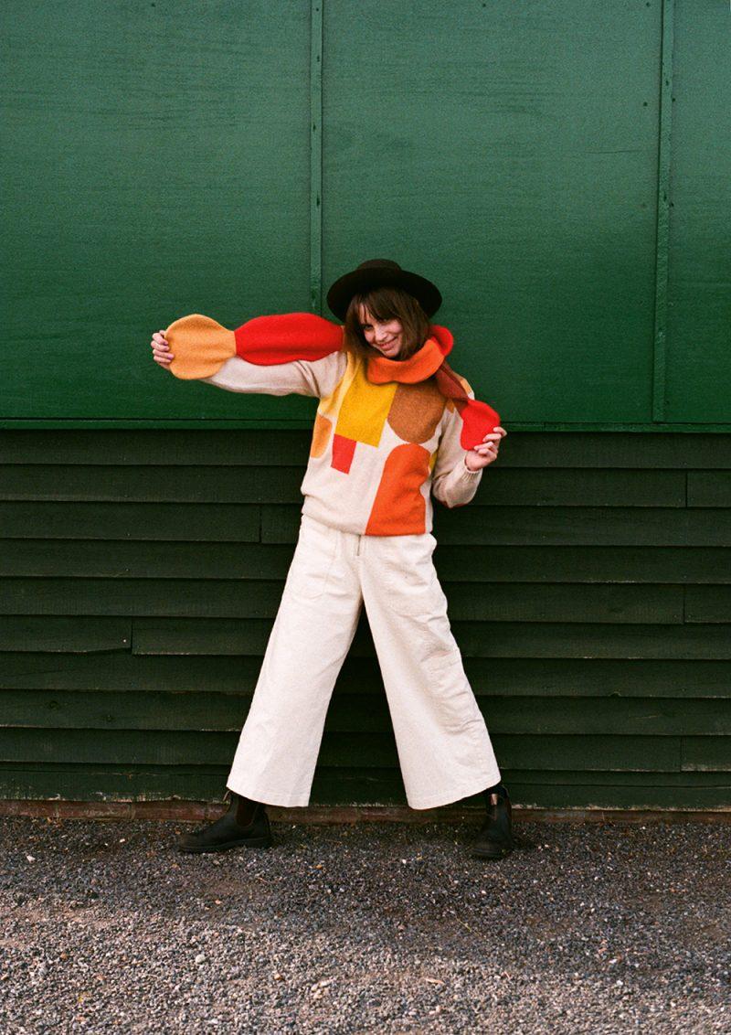 Pebble Skinny Scarf - Rust - Donna Wilson
