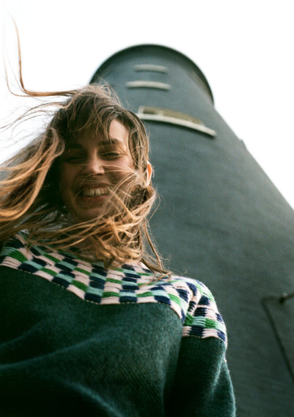 Isla Yoke Sweater - Dark Green - Donna Wilson