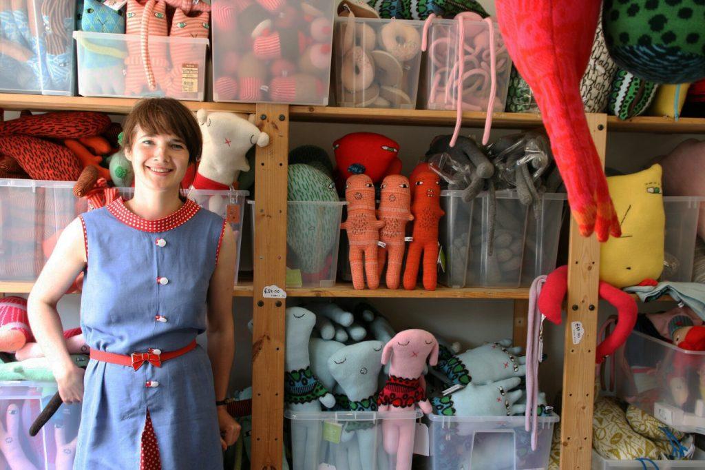 Donna Wilson in her studio
