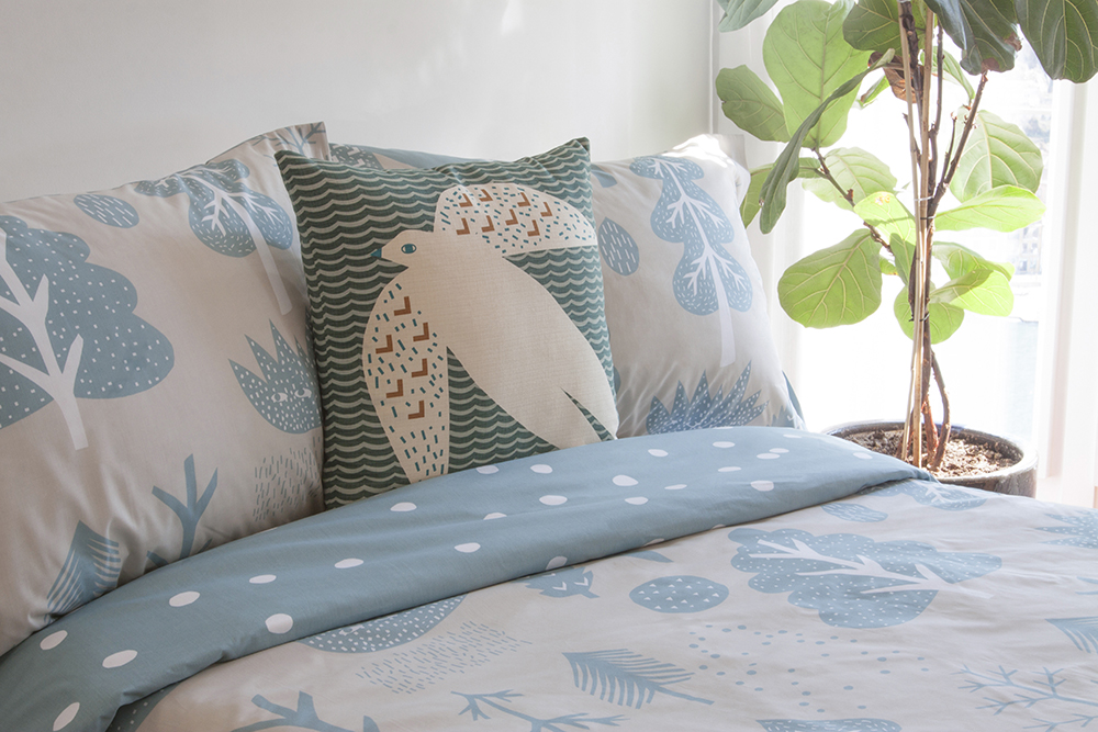 Donna Wilson Flying Bird Feet Bed Set - Cream