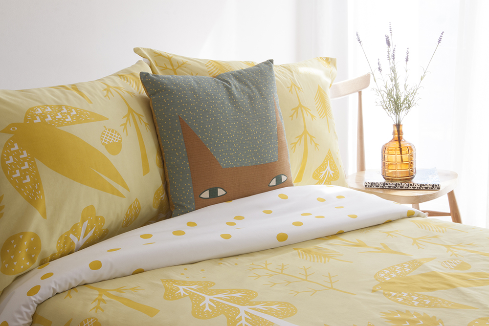 Donna Wilson Flying Bird Bed Set + Cat Ears Cushion