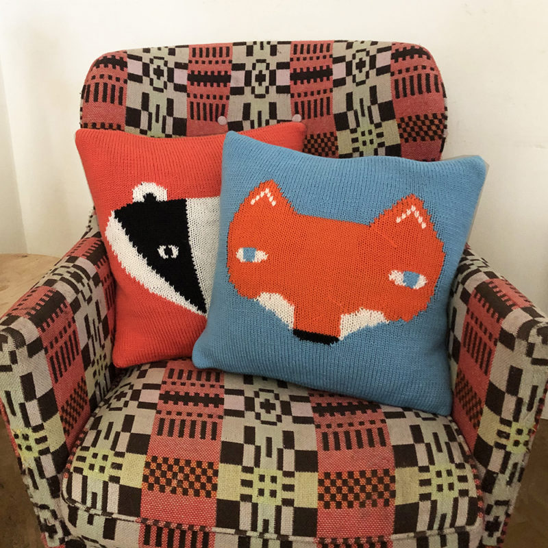 Knit Your Own Donna Wilson Fox & Badger Cushions
