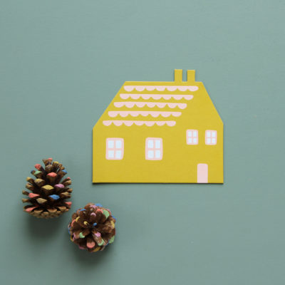 House Shaped Card - Donna Wilson