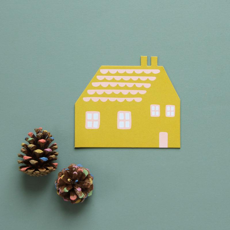 House Shaped Card - Donna Wilson
