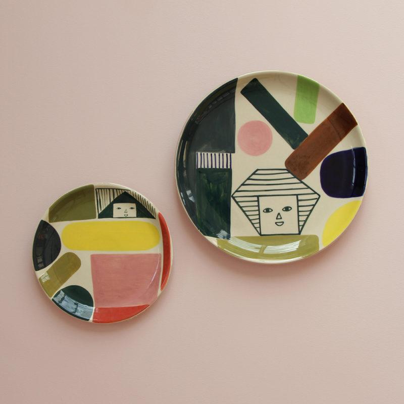 Prism Plate & Kaleido Dinner Plate - Donna Wilson