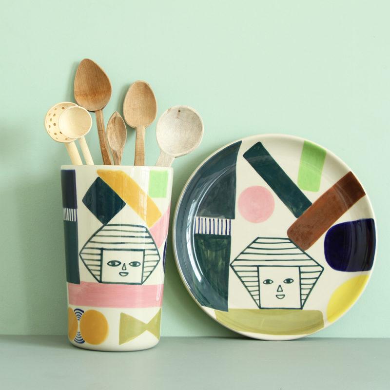 Kaleido Vase & Dinner Plate - Donna Wilson