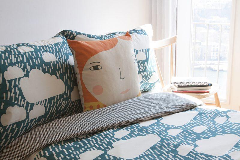 Donna Wilson Rainy Day Bed Set + Meg Cushion