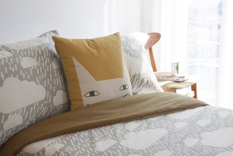 Donna Wilson Rainy Day Bed Set + Cat Ears Cushion