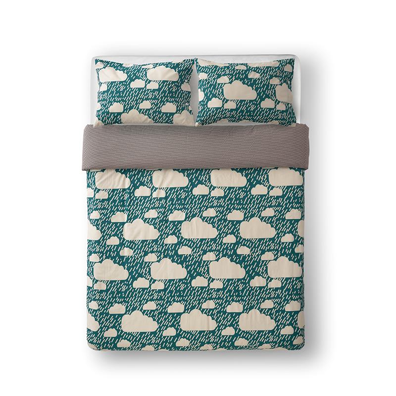 Donna Wilson Rainy Day Bed Set Dark Blue