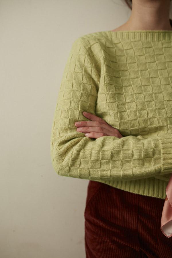 Basket Weave Sweater - Rosemary - Donna Wilson