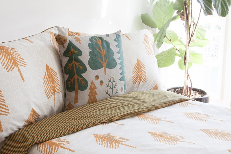 Donna Wilson Single Tree Bed Set + Forest Cushion