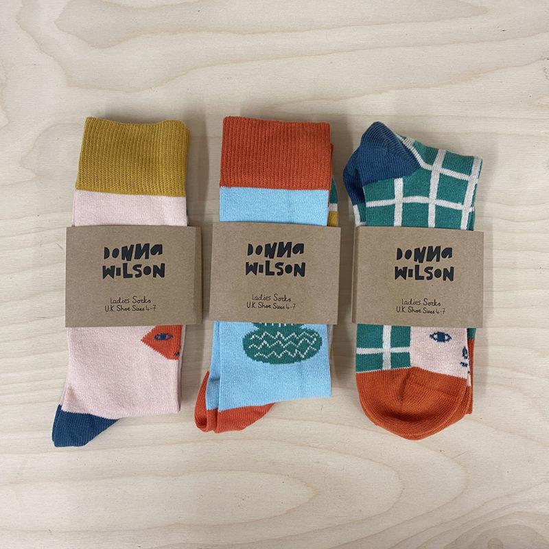 Socks - Colourful Sock Trio - Donna Wilson