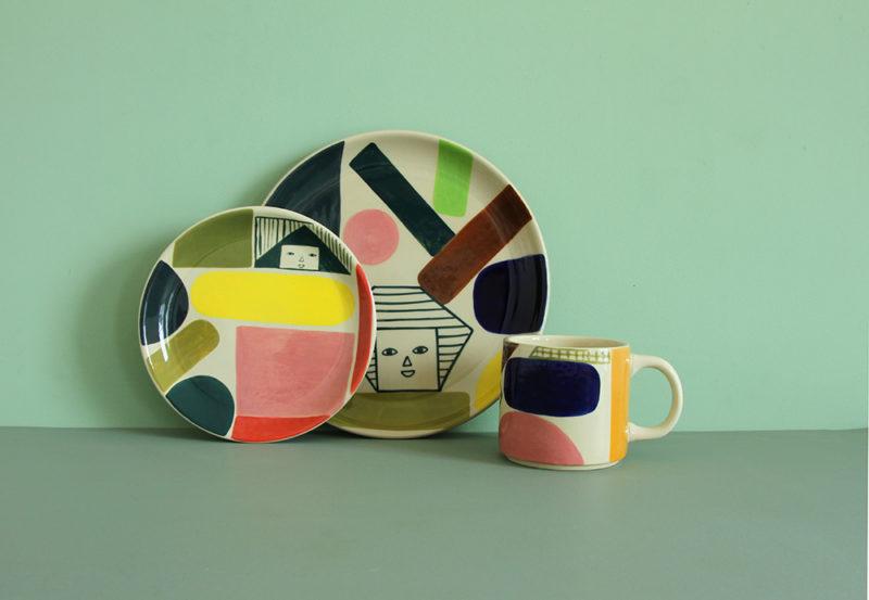 Prism Plate & Kaleido Dinner Plate & Kaleido Mug - Donna Wilson