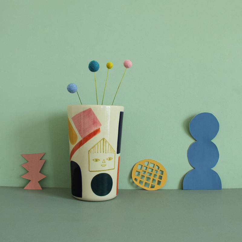 Sweet Treats Stoneware Vase - Donna Wilson