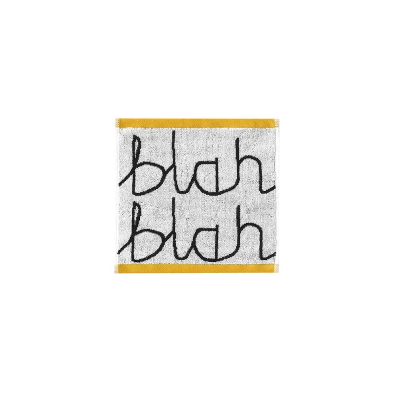 Donna Wilson - Blah Blah Face Towel - Black/White